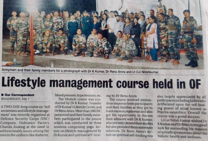 Life Style Managment Course